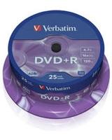 DVD+R 4.7GB Matt Silver Spindle 25 PK - Verbatim