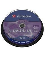 DVD+R 8.5GB Matt Silver Double Layer 10 PK - Verbatim