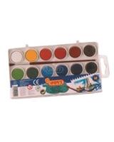 علبة ألوان 12 لون مياه أقراص جوفي 22مم رقم 800/12