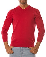 V-Neck Pullover 04ZS055 Red - Dandy