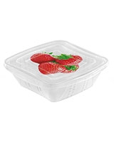 Fresh Container 0.5L Square Set Of 3 Pieces With Decoration - Snips