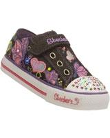 Twinkle Toes Shuffles Brite Wing Shoes For Girls Black 10192N-BMLT - Skechers