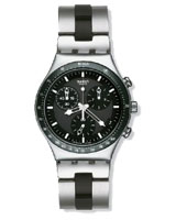 Men Windfall Black Dial Stainless Steel Bracelet Watch YCS410GX - Swatch