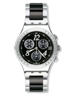 Men Dreamnight Black Dial Stainless Steel Bracelet Watch YCS485G - Swatch