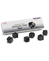 Genuine WorkCentre C2424 Solid Ink Black 6 sticks - Xerox