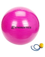 Pink gymnastic ball including pump - Energetics