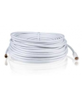 RadioShack® 100-Ft. Outdoor QuadShield Coax Cable - White - RadioShack