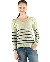 Round Neck Pullover with Stripes 24305 - Ravin