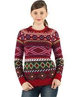 Printed Pullover 24350 - Ravin