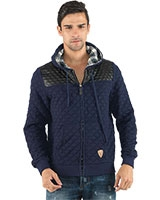 Hooded Zip Up Jacket with Quilted Effect Pattern 24470 - Ravin