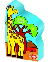 Savana 48 Pieces Wooden Puzzle In Giraffe Box - Vilac