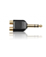 Gold Plated Y Adapter, Stereo Phone Jack to Phono plugs - RadioShack