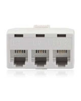 2 Line 3 Way Jack Adapter White - RadioShack