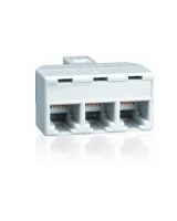 1-to-3 Jack Adapter - White - RadioShack