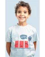 T-Shirt Mokhtalef Short Sleeves Baby Blue - Nas