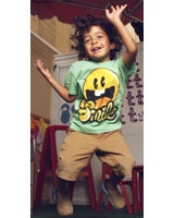 T-Shirt Smile Short Sleeves Green - Nas