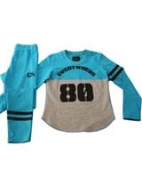 Pyjama Melton 3068 Blue/Gray - PJS