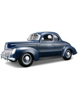 1939 Ford Deluxe Coupe Metallic Blue - Maisto Die-Cast
