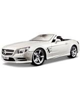 2012 Mercedes Benz Sl 500 Convertible Metallic White - Maisto Die-Cast