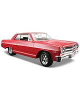 1965 Chevorlet Malibu SS Metallic Red - Maisto Die-Cast