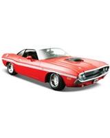 1970 Dodge Challenger R/T Coupe Metallic Red - Maisto Die-Cast
