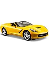 1:24 SP 2014 Corvette Stingray Convertible Metallic Yellow - Maisto Die-Cast