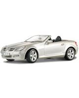 Mercedes Benz Slk Convertible Metallic Grey - Maisto Die-Cast