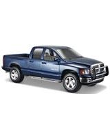 2002 Dodge Ram Quad Cab Metallic Blue - Maisto Die-Cast