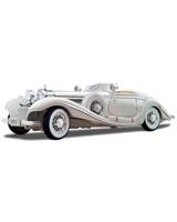 1936 Mercedes Benz 500K Typ Specialroadster White - Maisto Die-Cast