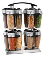 Set of 16 jars for spices quad 0063562535601 - Trudeau