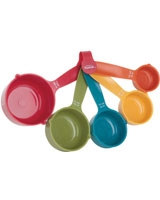 Set of 5 Plastic Measuring Cups 063562427074 - Trudeau