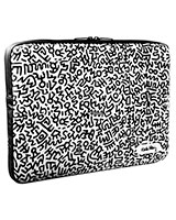 "Keith Haring macbook Pro 13"" Graffiti Print Black - Case Scenario"