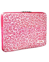 "Keith Haring macbook Pro 13"" Graffiti Print Pink - Case Scenario"