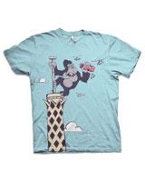 T-Shirt King Kong Short Sleeves Baby Blue - Nas