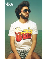 T-Shirt Fishar Short Sleeves White - Nas
