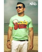 T-Shirt Fishar Short Sleeves Green - Nas