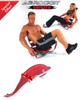 Ab Rocket AB Rocket Twister + Free Dolphin Massager