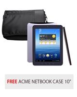 "Android tablet Premium 8 Pro - Nextbook + Free Netbook Case 10"" Black 10M01 - ACME"