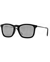 Men's Sunglasses 4187 Flock Black 60756G - Ray Ban