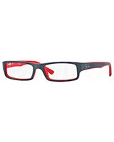 Mens Optical Glasses 5246 Top Grey On Matte Red 5225 - Ray Ban