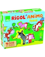 Magnetic farm animals set - Vilac