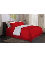 Plain Duvet Cover Fashion Poppy Red - Comfort