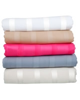 Lucido striped flat bed sheet size 310x270 - Comfort
