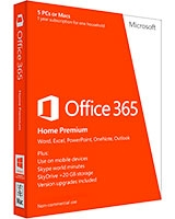 Office 365 Home Premium 32/64-bit English 1 Year - Microsoft