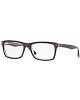 Mens Optical Glasses 5287 Top Red On Trasparent Beige 5372 - Ray Ban