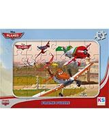 Planes Puzzle Frame Assorted 24 Pieces - KS Games