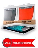 Attaz-folio Case for New iPad SSS287 + Free Imirror Screen Guard Protector SGP229 - Ztoss