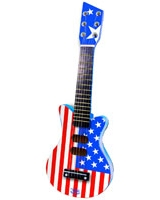 American Flag Rock'n Roll Wooden Guitar - Vilac