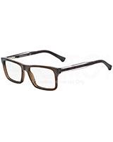 Men's Optical Glasses 3002 Dark Brown Transparent 5073 - Emporio Armani