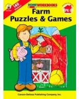 Farm Puzzles & Games, Grades PK - 1 Home Workbooks